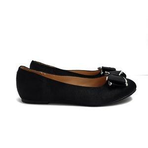 Badgley Mischka Black & Silver Flats Loafers Sz 3